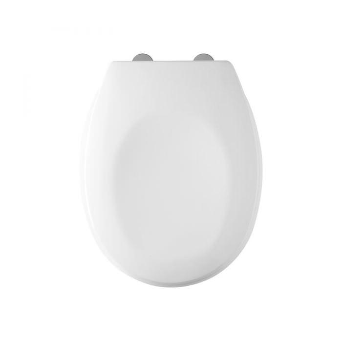 Tavistock Verve Thermoset White Toilet Seat With Swivel Hinges