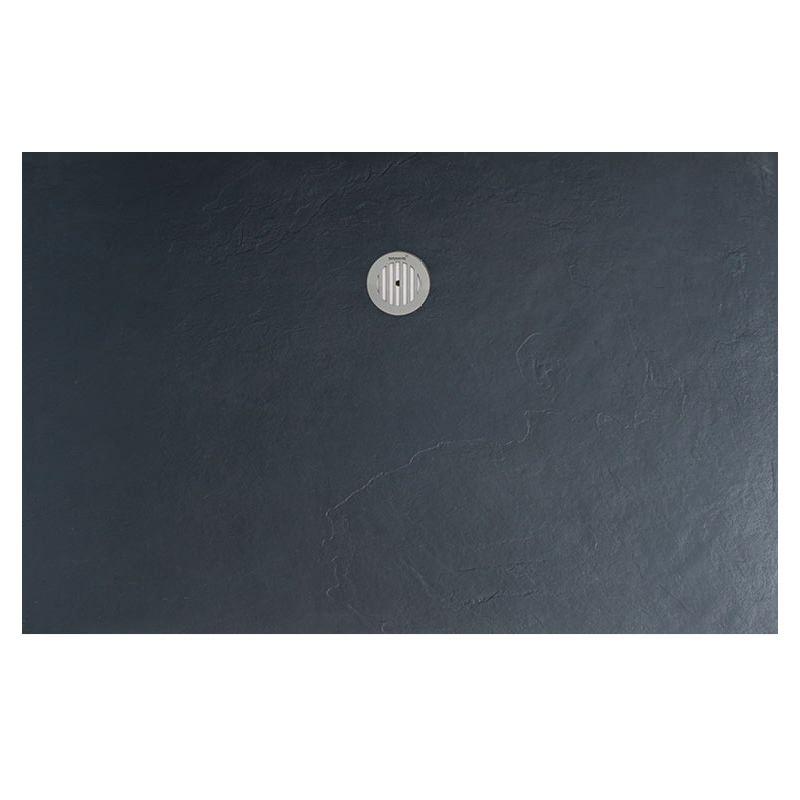 Simpsons Grey Textured Slate Effect Rectangular Shower Tray 1600 x 800mm