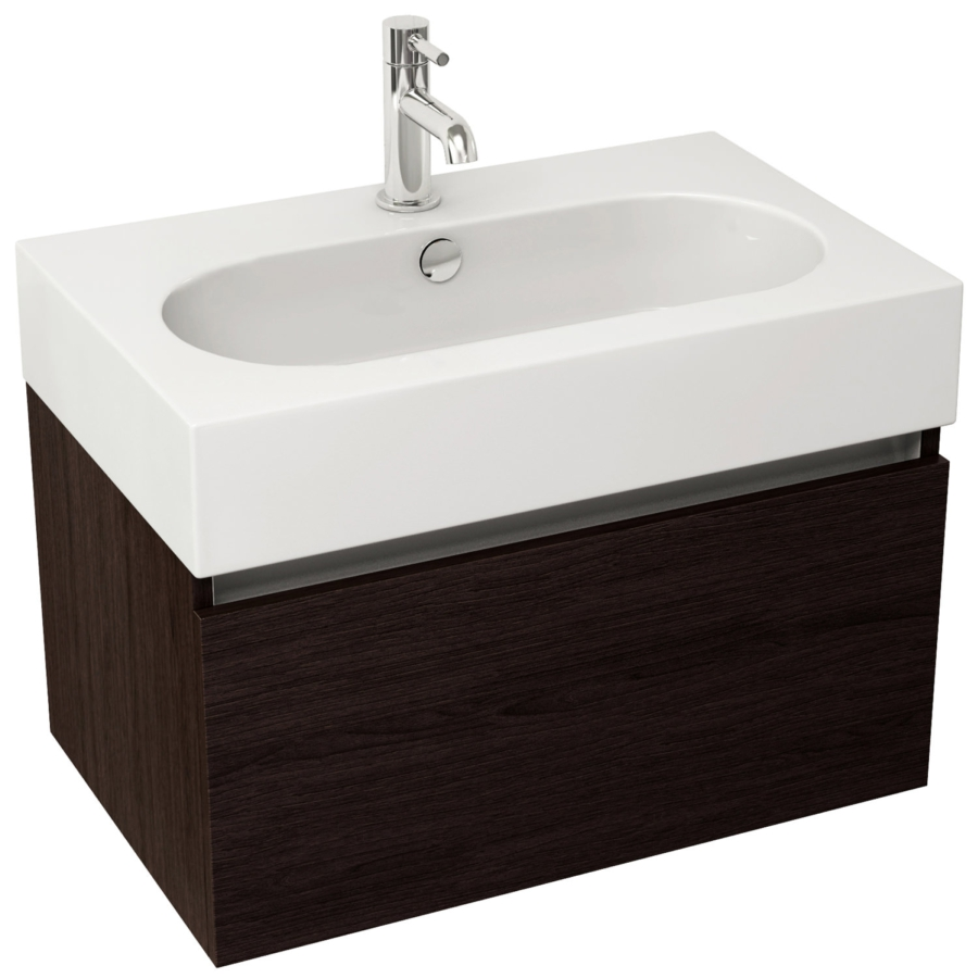 Pura Echo 800mm Wenge Single Drawer Wall Mounted Unit And
