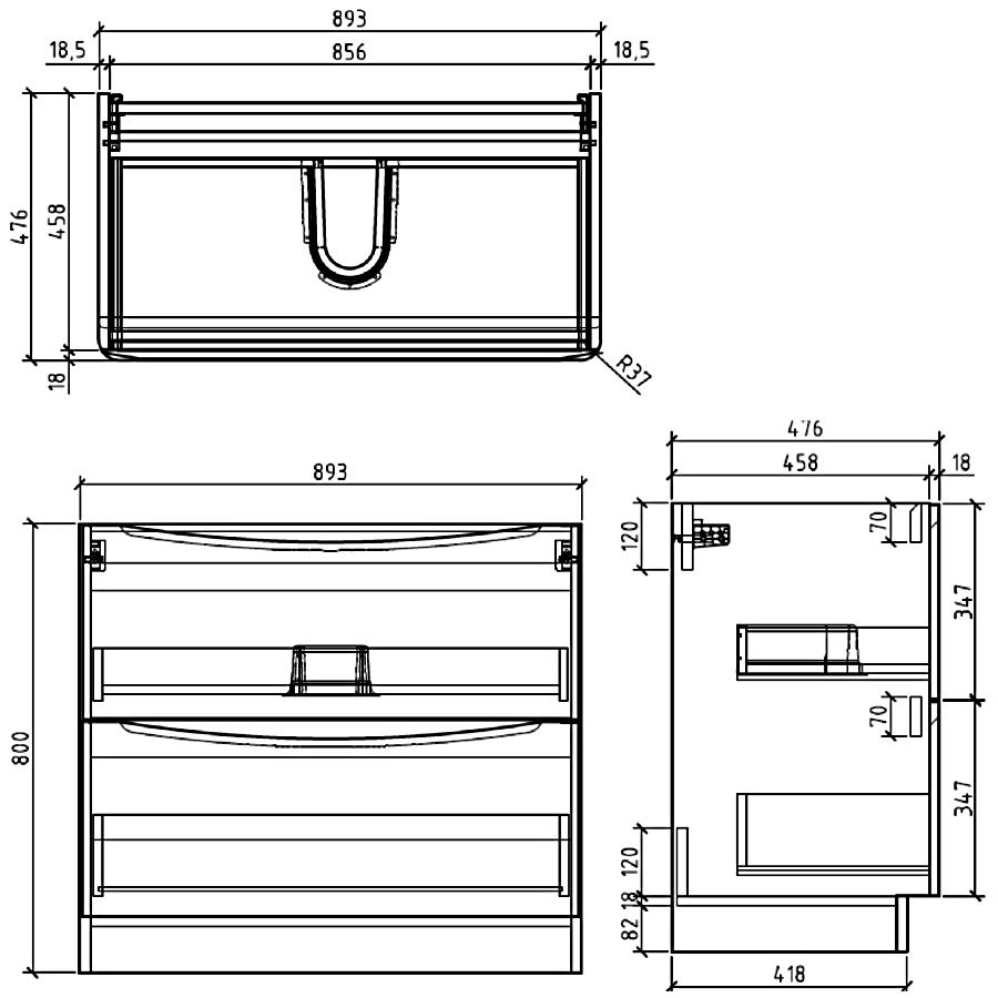 Technical drawing B3-13438 / FSC894WA