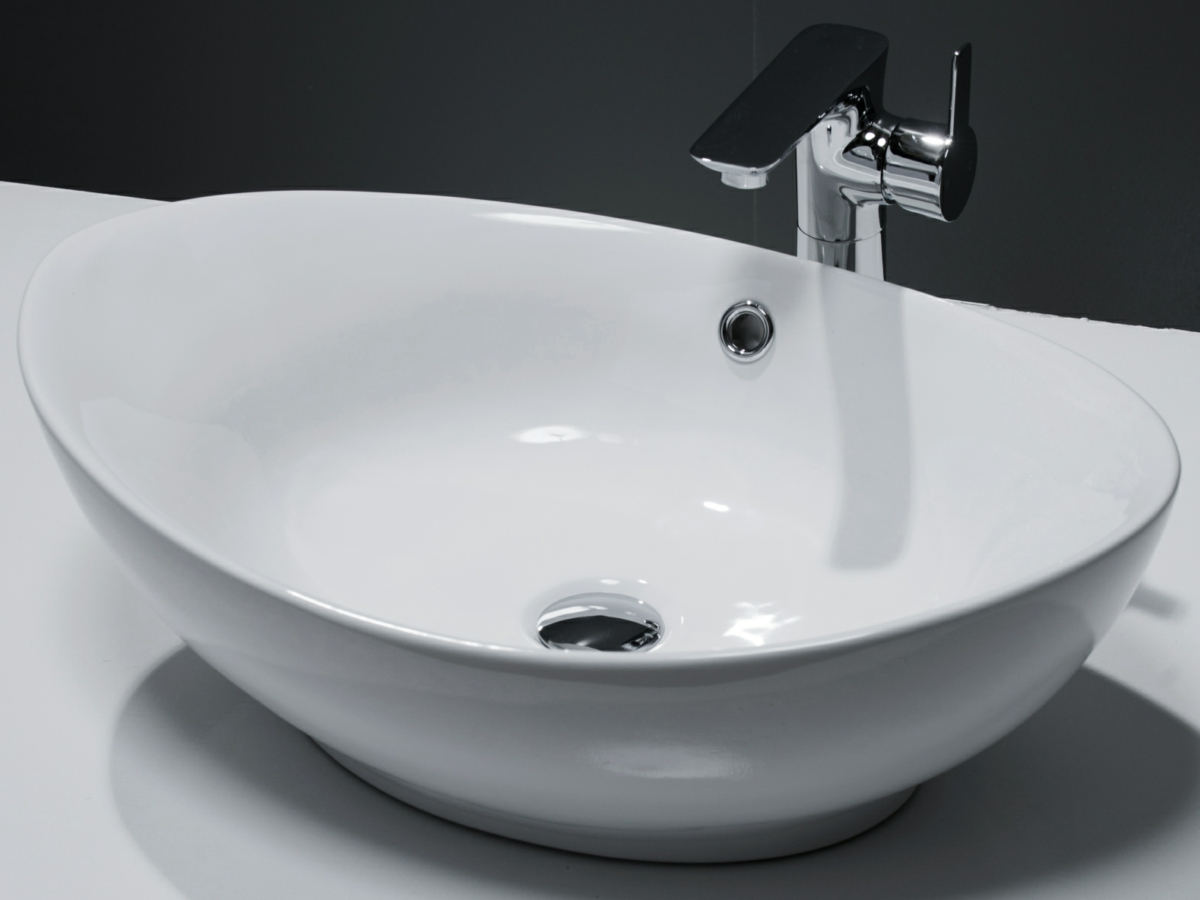 Cassellie Oval Counter Top Basin 580 X 383mm