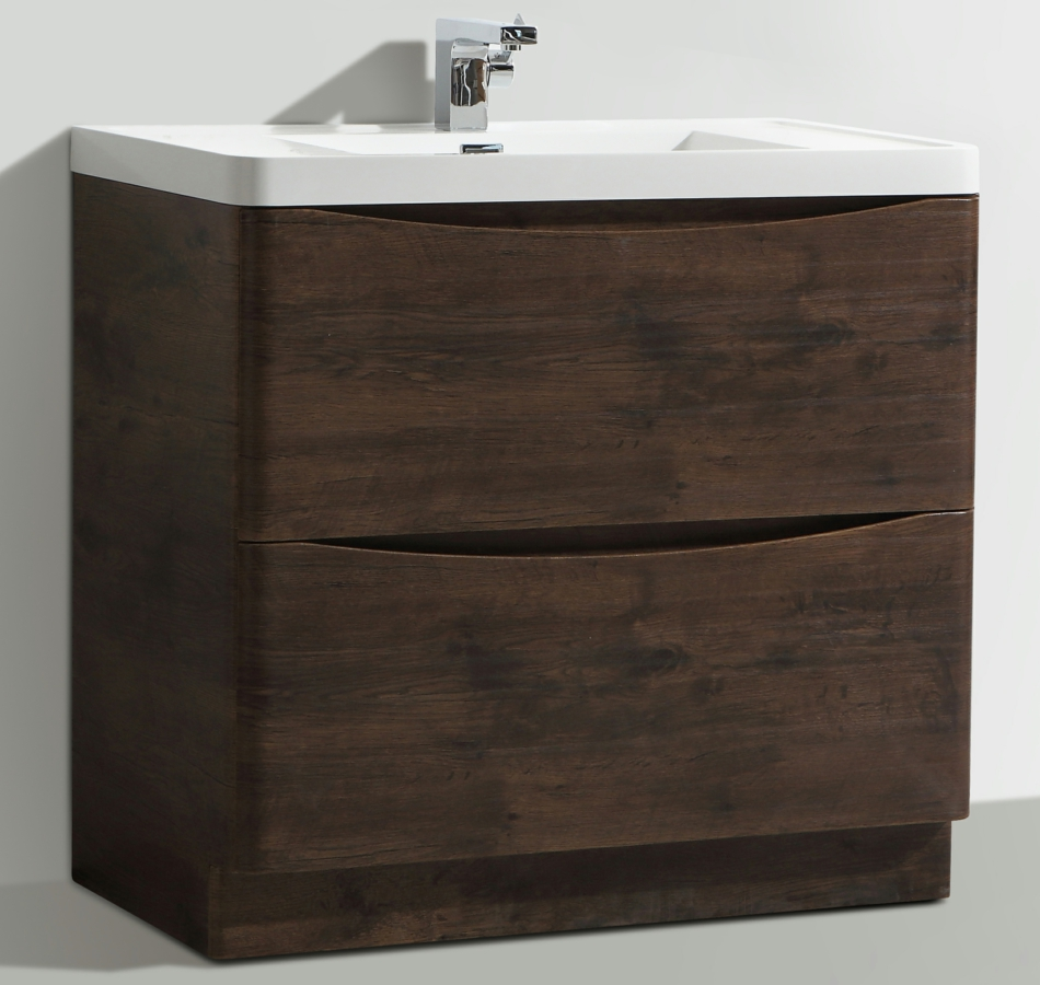 Bali Chestnut 900mm Free Standing Vanity Unit With Basin