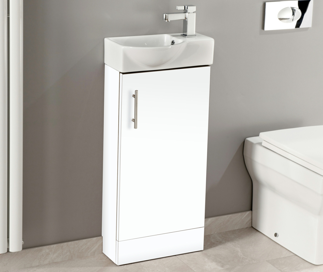 Cassellie Single Door 400mm Mini Unit With Basin