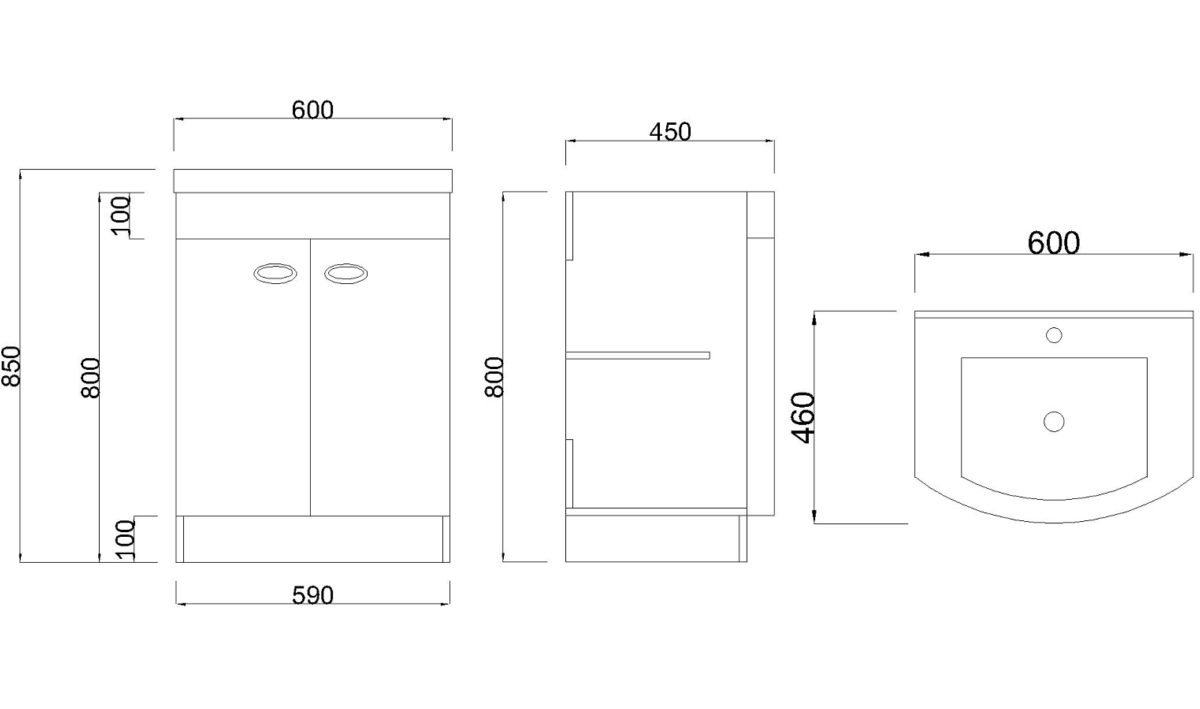 Technical drawing B3-13462 / BU001-UNIT-BASIN-RF