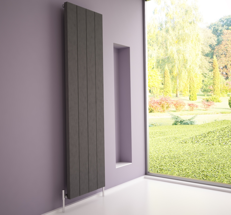 mirror for bathroom elvino vertical metallic grey designer radiator 495 x 1800mm 13664