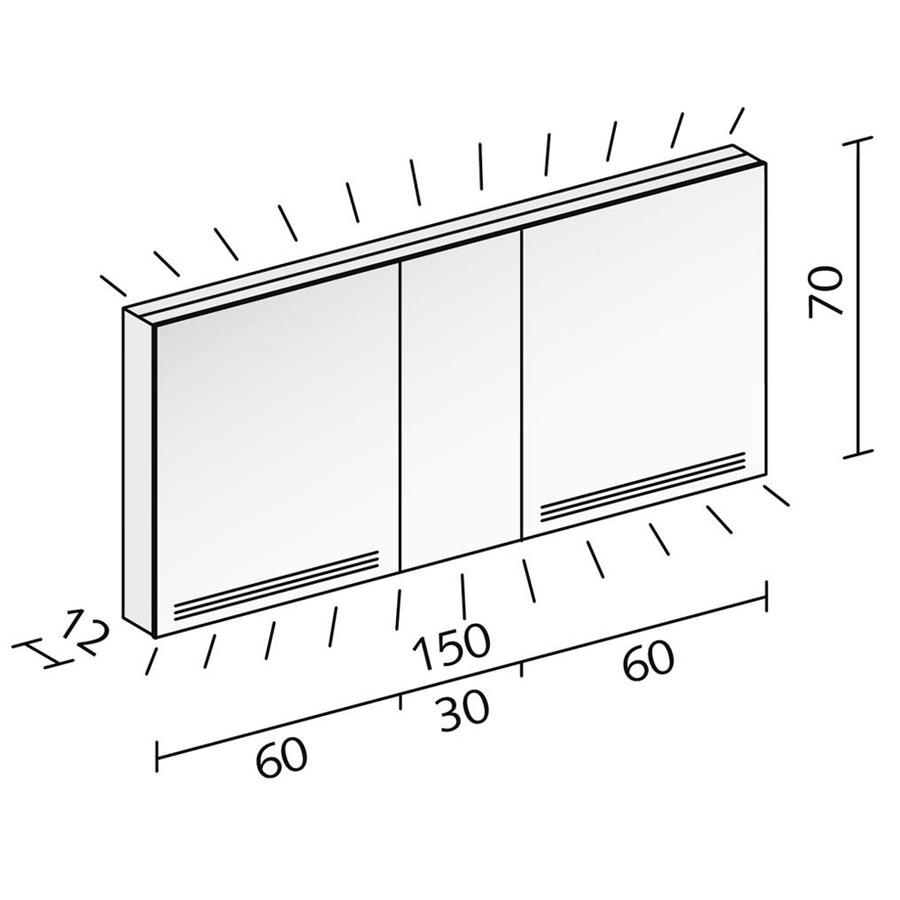 Technical drawing B3-19056 / GRL 150/3/FL