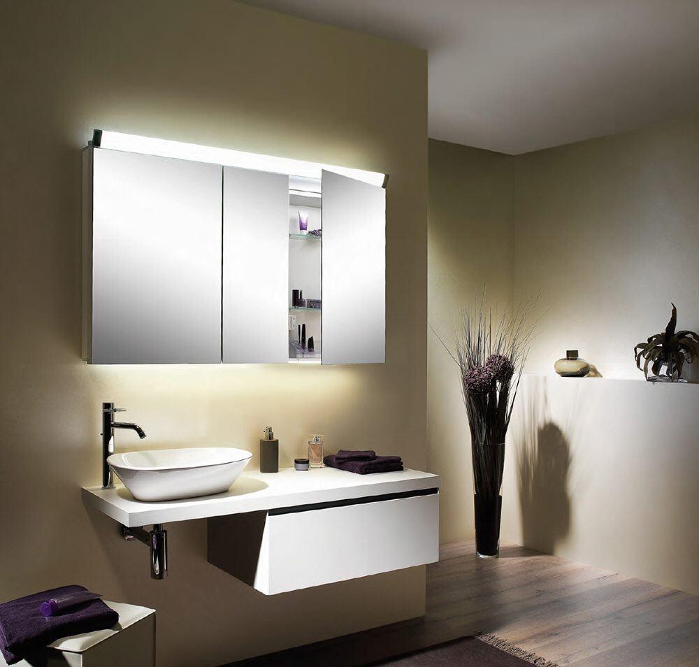 Schneider Paliline 3 Door 1000mm Mirror Cabinet With Led Light Pal