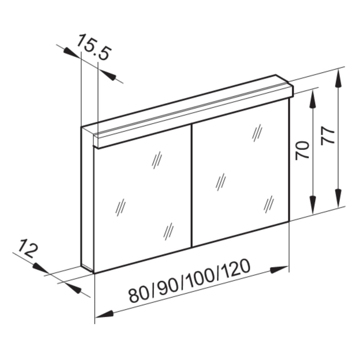 Technical drawing B3-19120 / LOW 90/2/LED