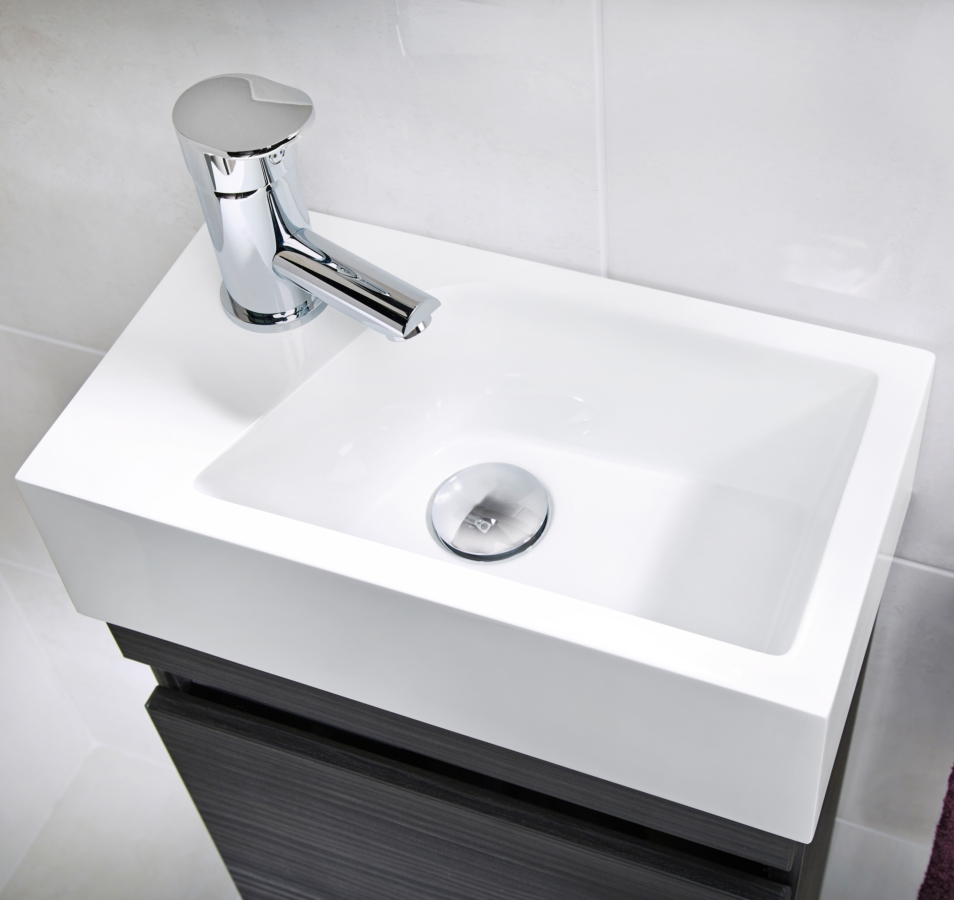 Marvelous Alternate Image Of Utopia Qube 400mm Wall Hung Cloakroom Unit With  Mineralcast Basin