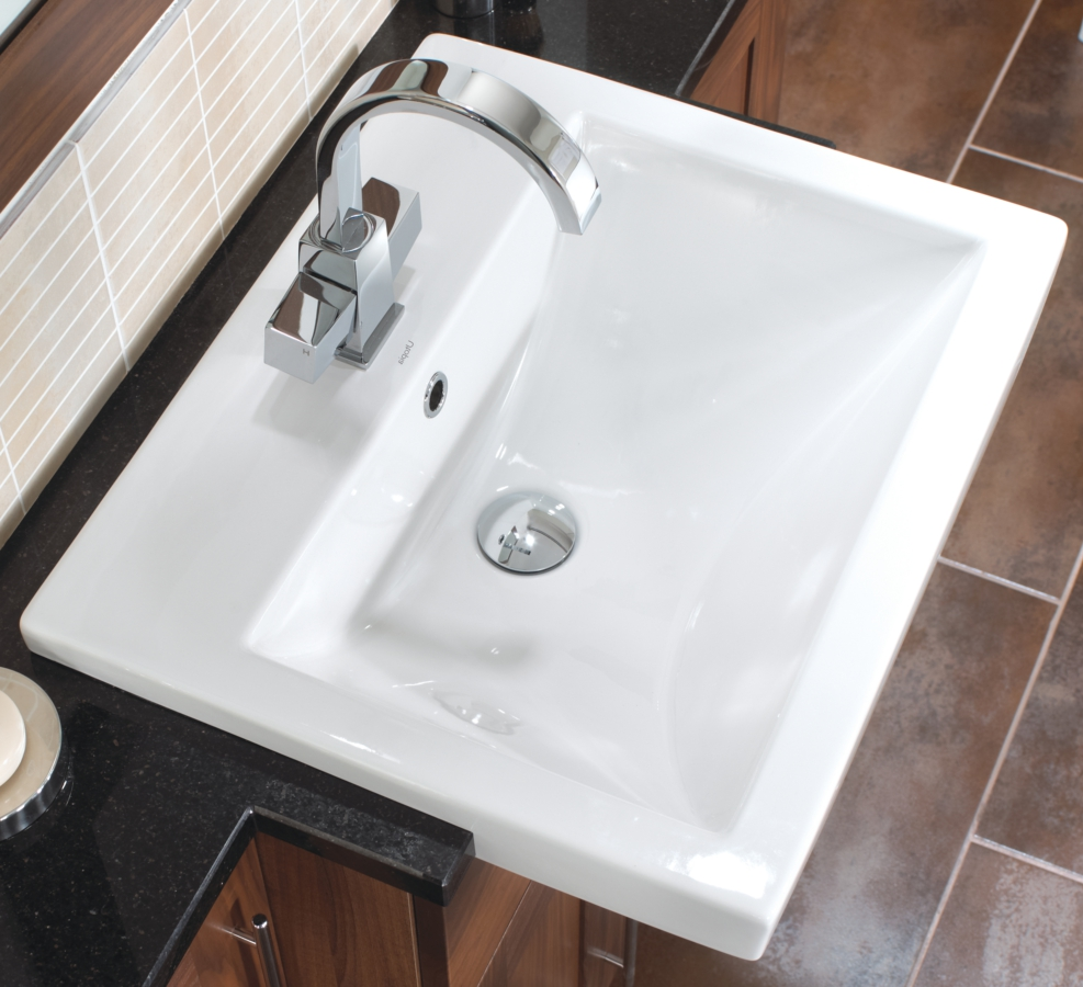 Alternate Image Of Utopia Quantum Square Semi Recessed Standard Basin 550 X  460mm