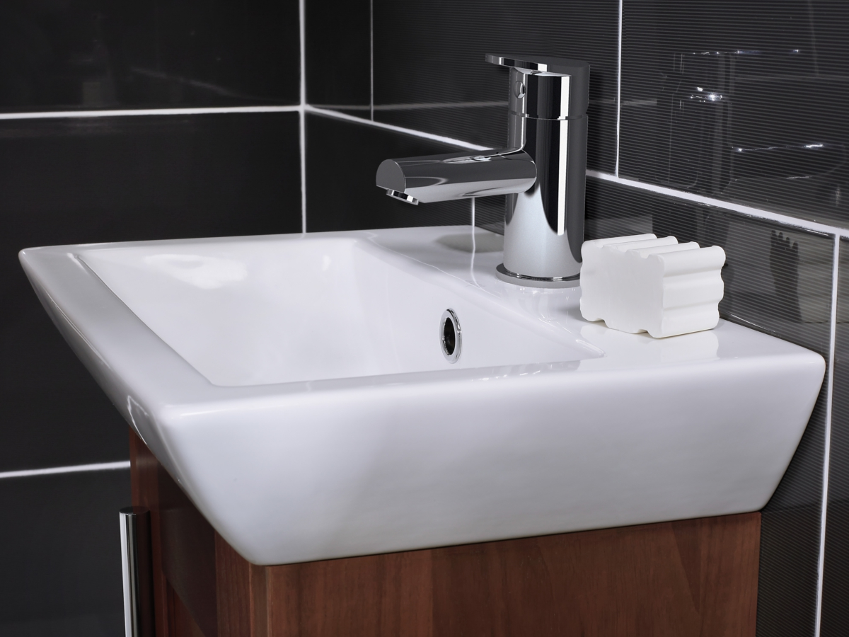 Alternate Image Of Utopia Quantum Square Elegant Deck Mounted Cloakroom  Basin 455 X 310mm