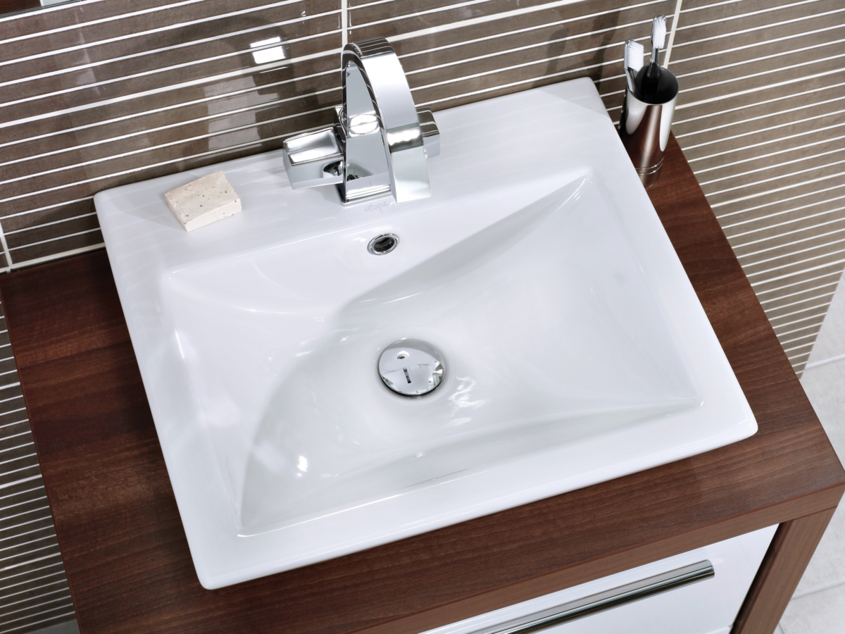 Superb Alternate Image Of Utopia Quantum Square Elegant Deck Mounted Basin 500 X  420mm