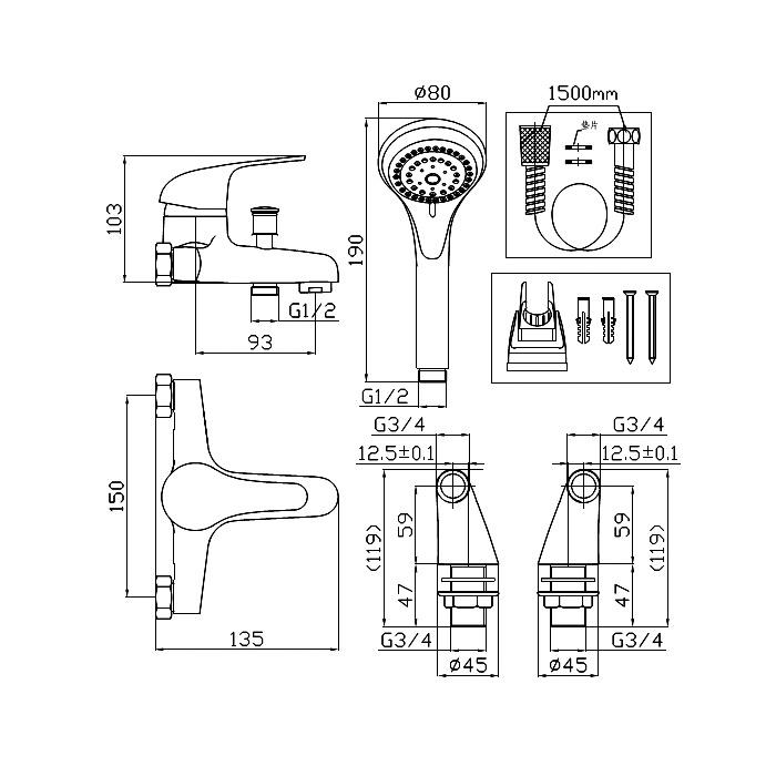 Technical drawing B3-10251 / TAP112G4K