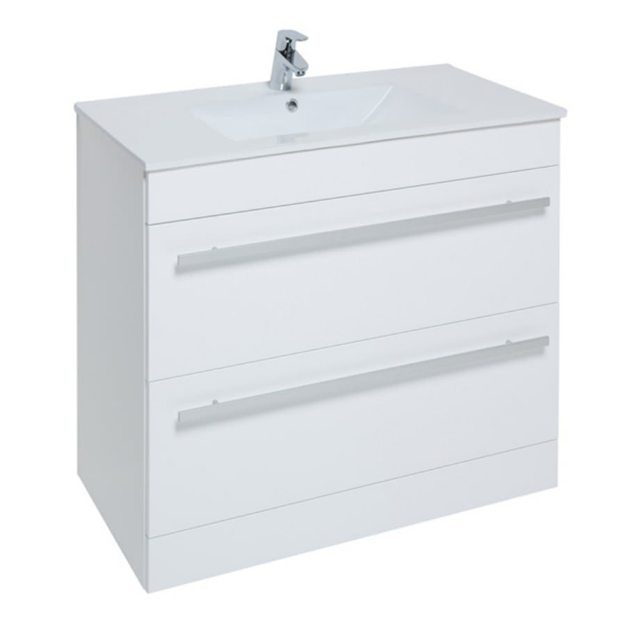 Kartell Purity 900mm Floor Standing Drawer Unit And Basin