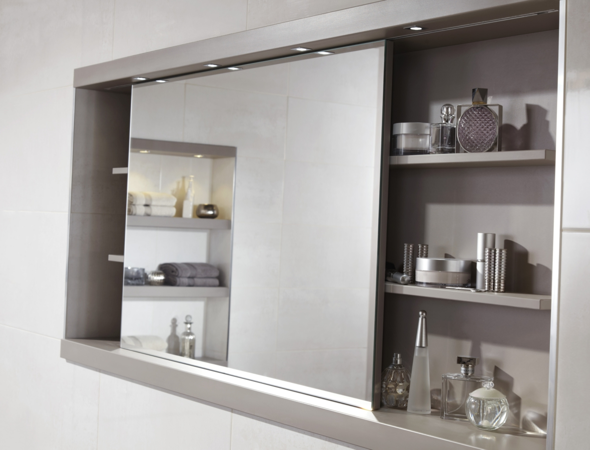Utopia 1200mm Sliding Mirror Cabinet