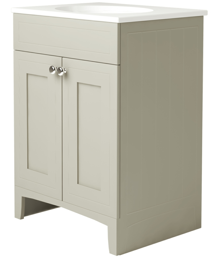 Noble Classic Ivory 600mm Double Door Unit With Basin
