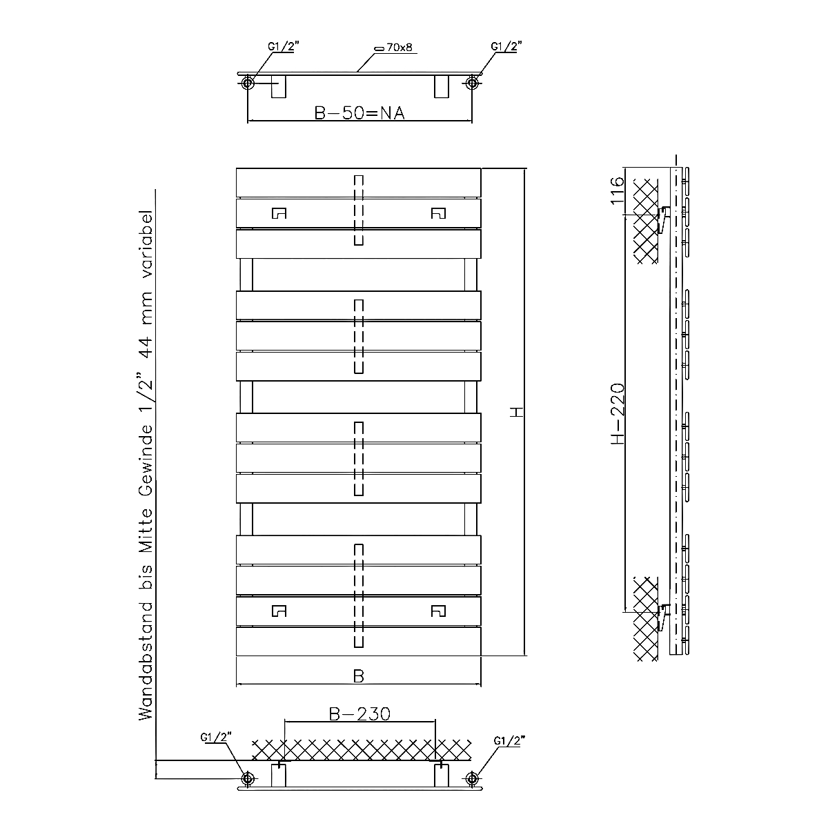 Technical drawing B3-20116 /