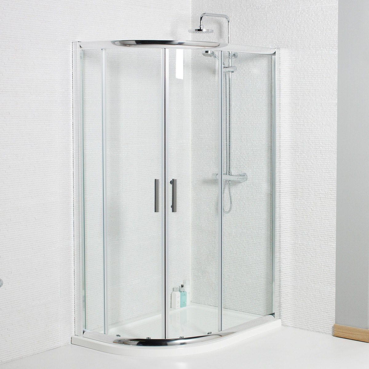 Kartell Koncept 900 x 760mm Offset Quadrant Shower Enclosure