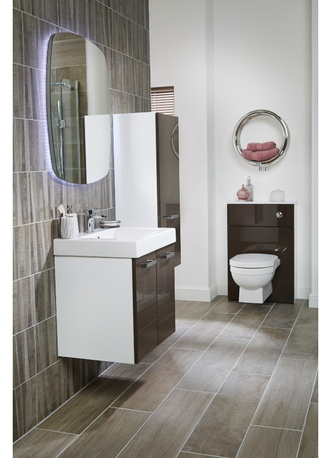 Utopia You Modular 600mm Double Door Unit With Ceramic Basin