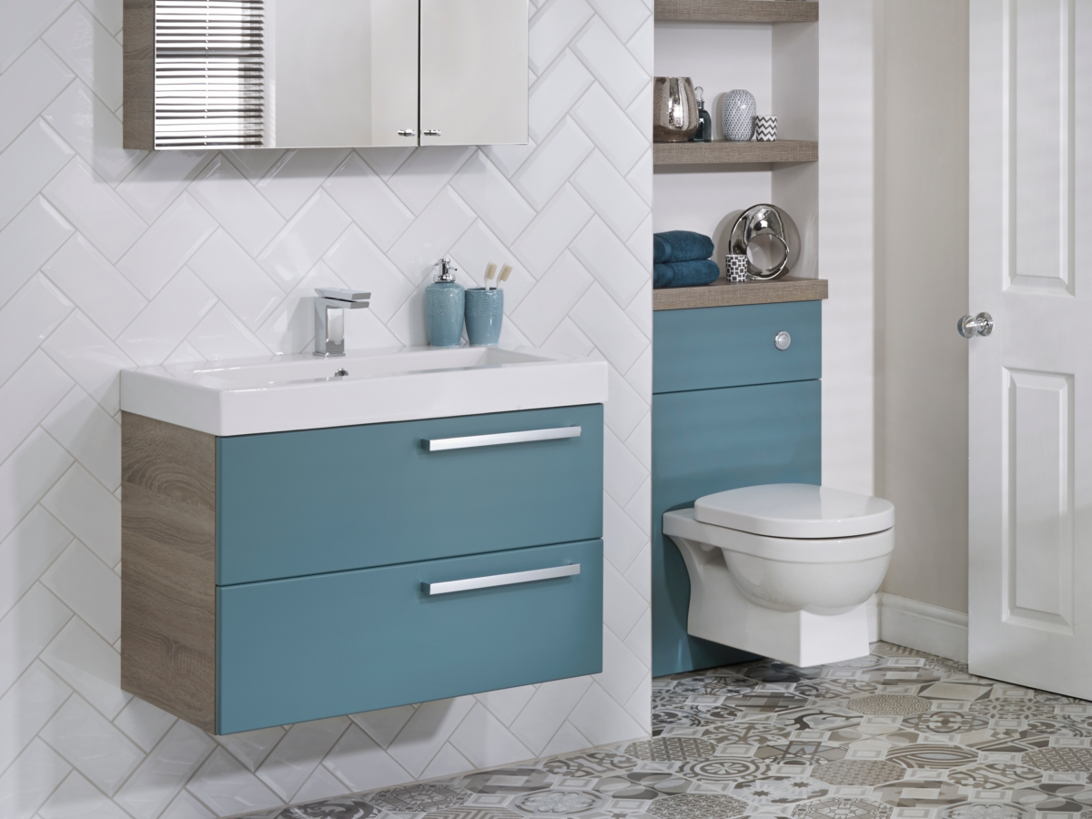 Utopia You Modular 600mm Double Drawer Unit With Mineralcast Basin