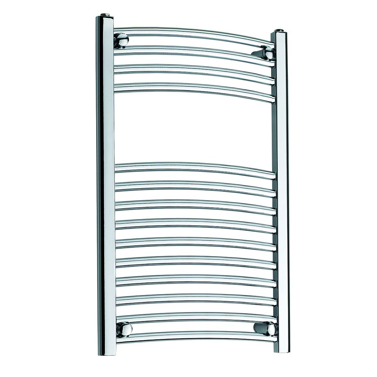 Bath Shower Thermostatic Mixer Taps Kartell K Rail 22mm Curved Towel Rail 600 X 800mm White