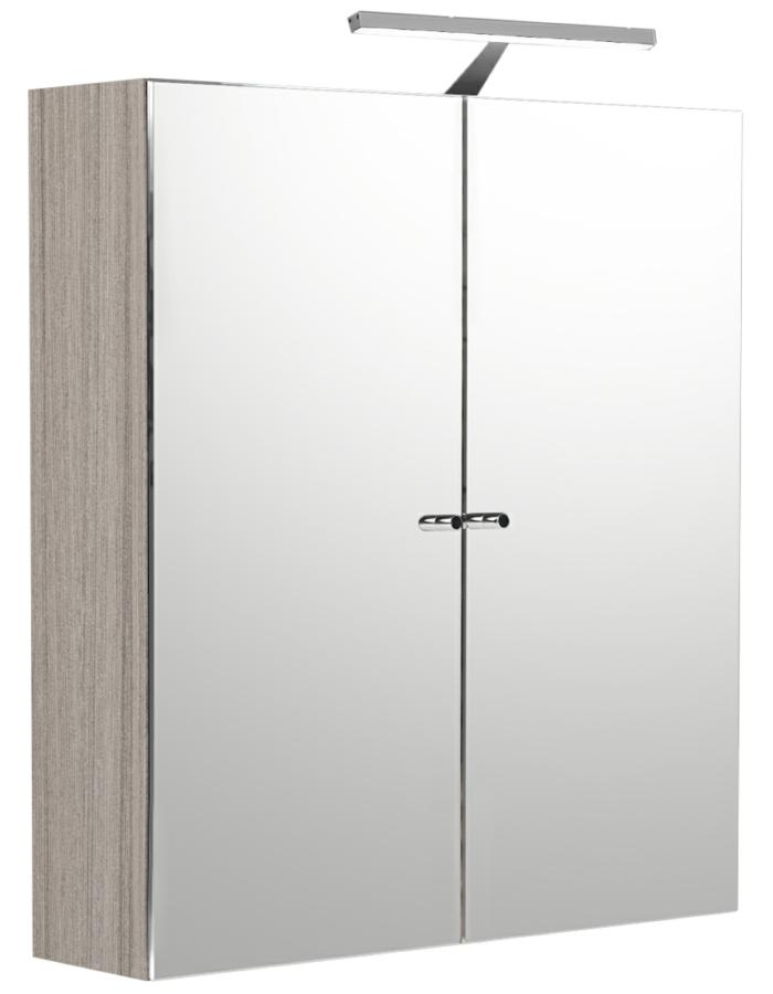 Noble Modular Drift Double Door Mirror Cabinet 800 X 660mm