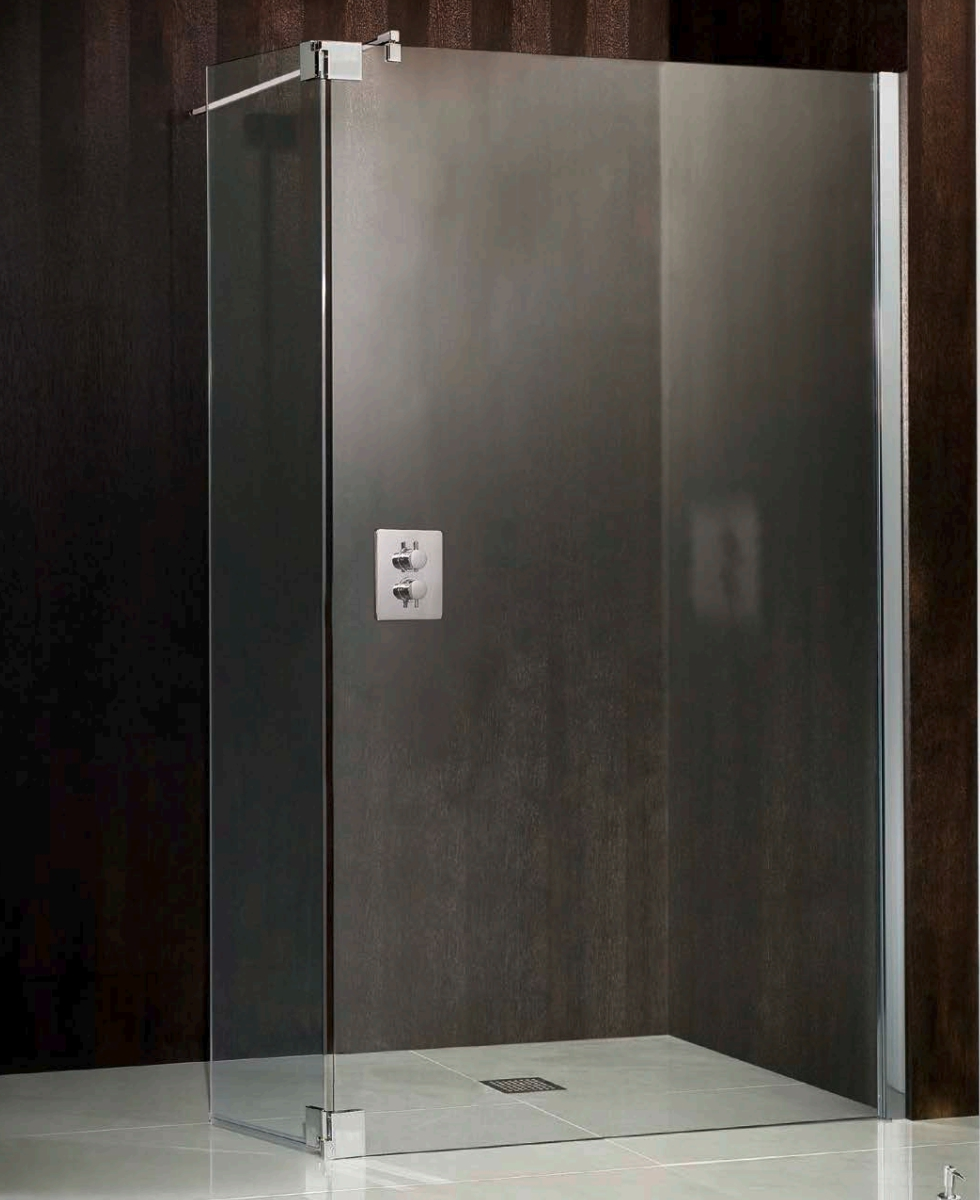 hsk walk in atelier 900mm straight shower panel with 1 return flip panel. Black Bedroom Furniture Sets. Home Design Ideas