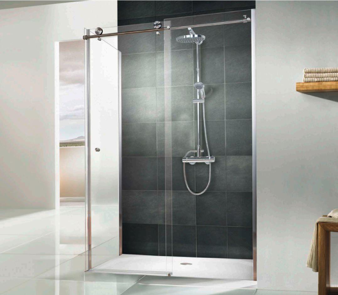 Hsk Regency Single Slider Shower Door With Side Panel 1000 X 800mm