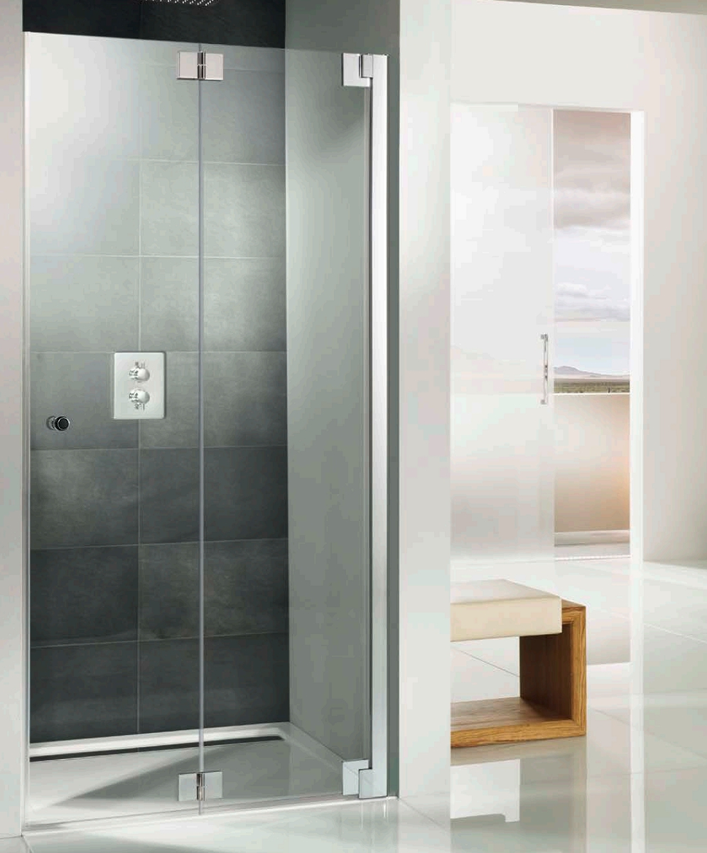 Hsk K2p Recess Pivoting Bi Fold Shower Door 760 X 2000mm