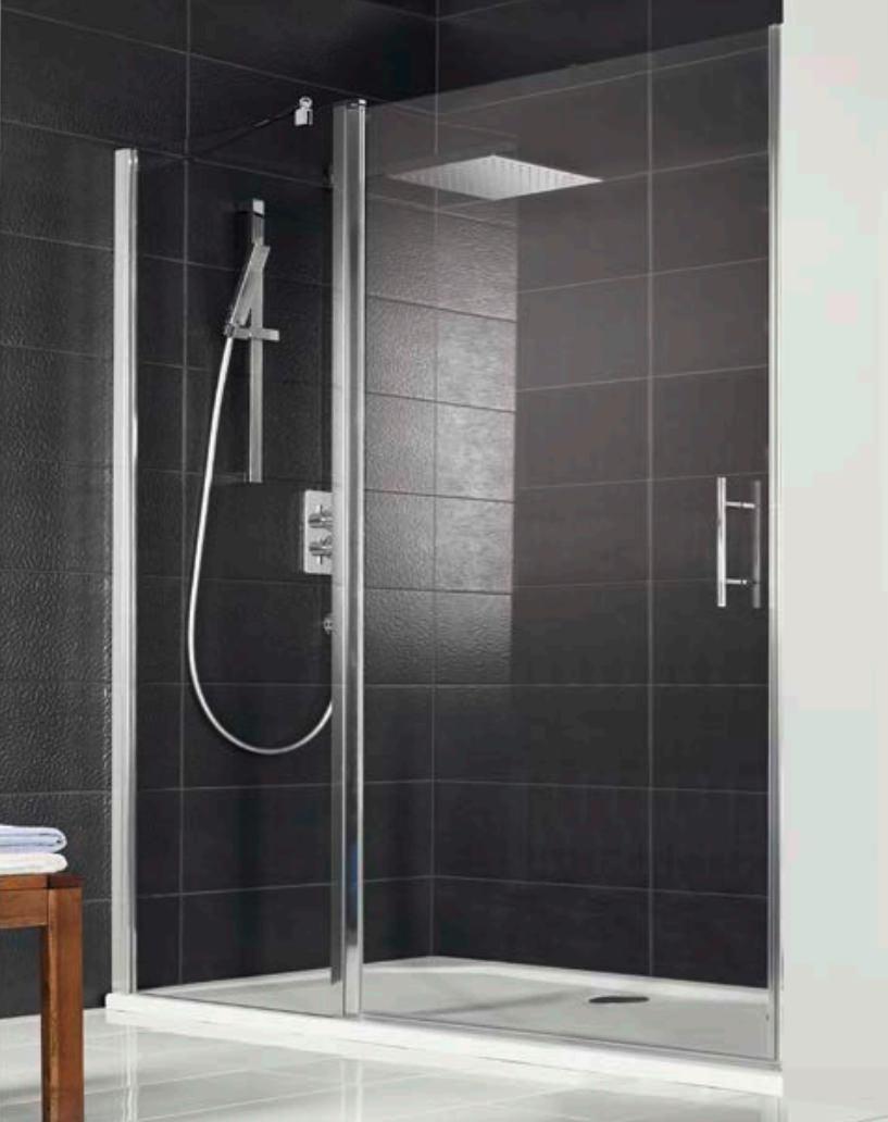 Hsk Favorit Nova Spacious 1200 X 1950mm Pivot Shower Door For Recess