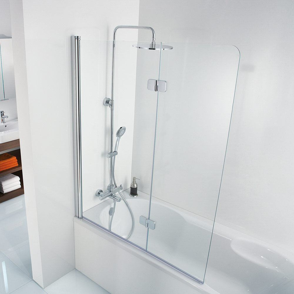 Hsk Premium Softcube 2 Panel Pivot Bath Screen 900 X 1400mm