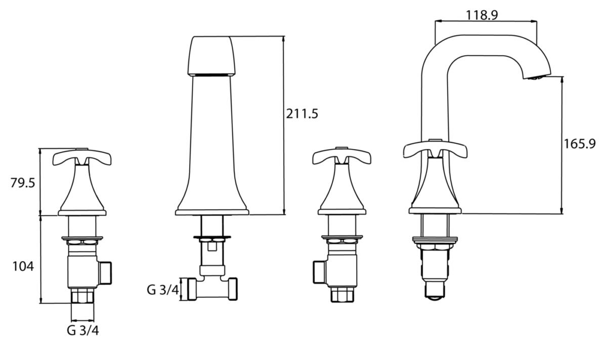 Technical drawing B3-21295 / GLR 3HBF C