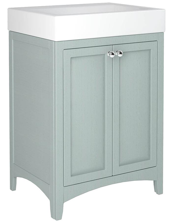 Downton 600mm Double Door Unit With Ceramic Slabtop Basin