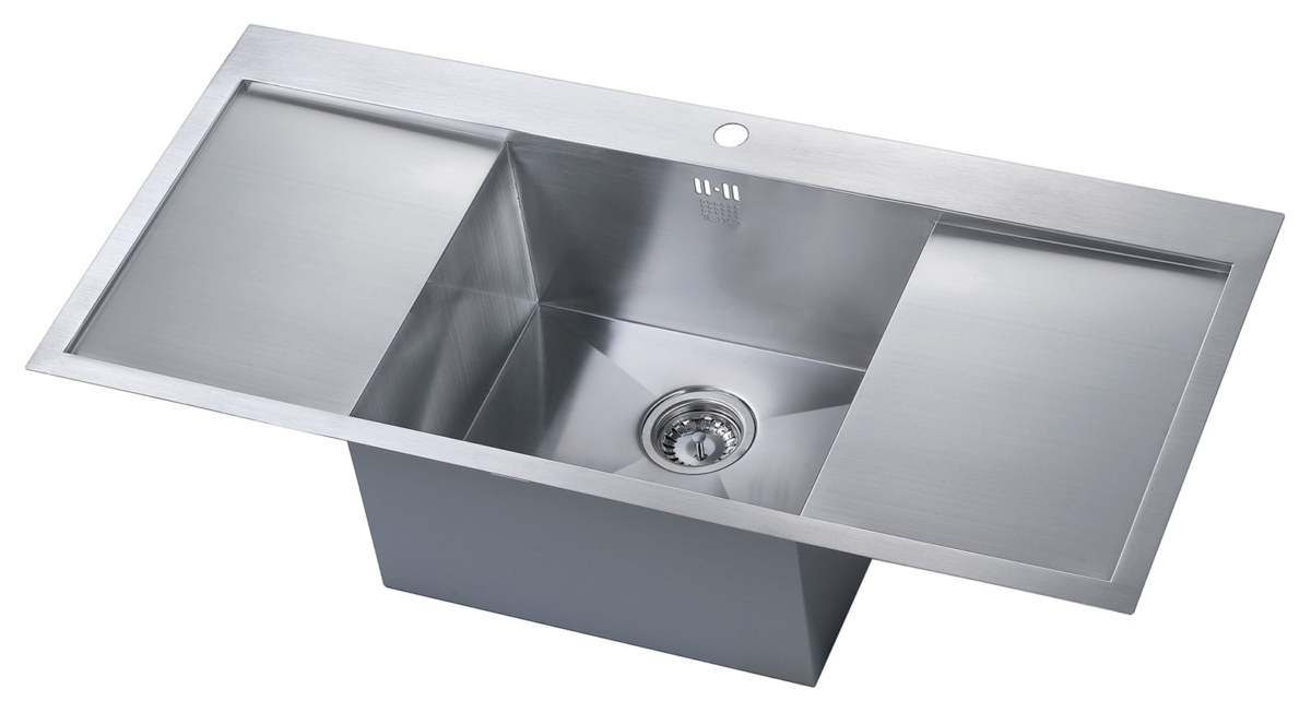 1810 Company Zenuno 45 I-F Deep 1.0 Bowl Kitchen Sink With Double ...