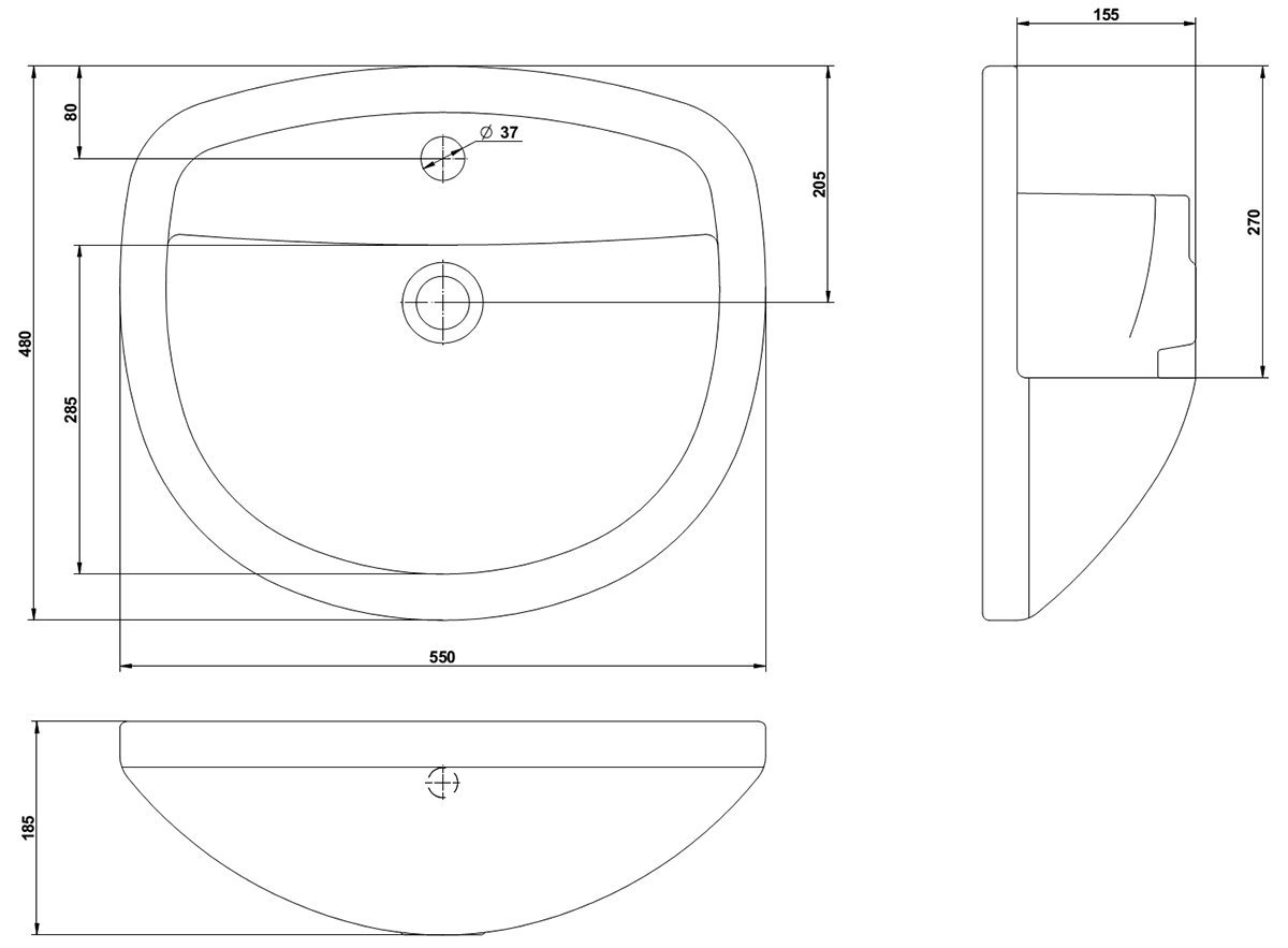 Technical drawing B3-15553 / MABASR55W