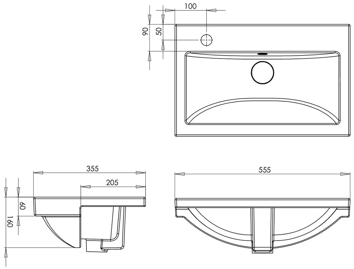 Technical drawing B3-15538 / QSBASRSP55W