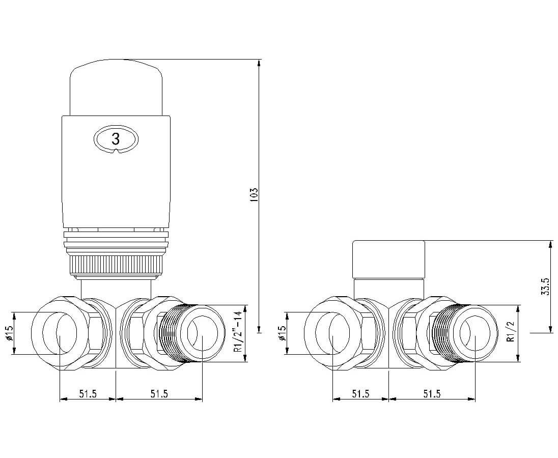 Technical drawing B3-25000 / LMRADCT