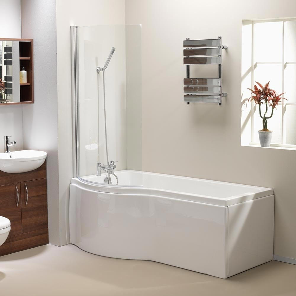 QX California 1700 x 700mm 5mm Acrylic Shower Bath Left Hand