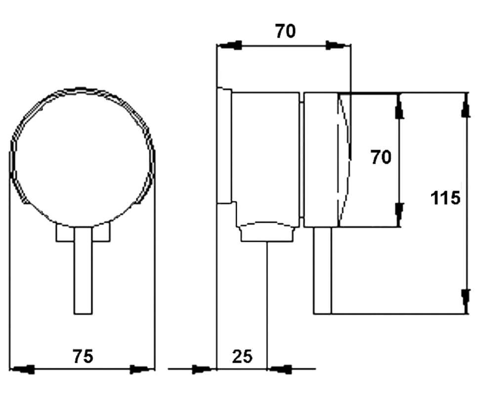 Technical drawing B3-25098 / UFE358
