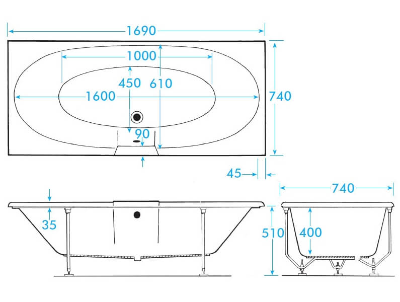 Technical drawing B3-12987 / TRAL17WNTH