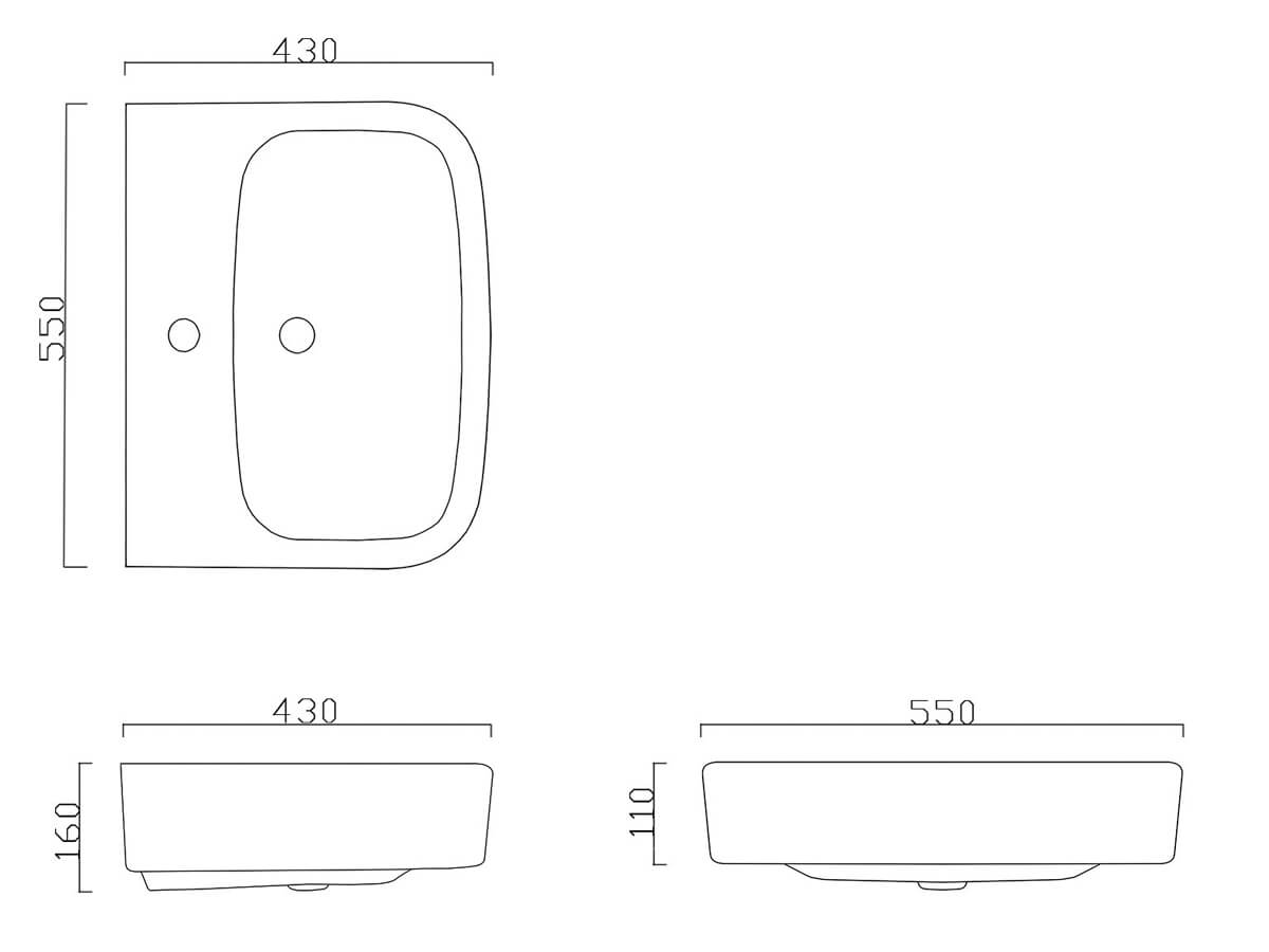 Technical drawing B3-14946 / BIQR2055BAS1