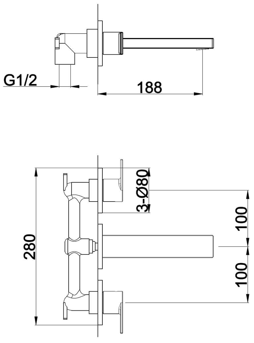 Technical drawing B3-28028 / S909-1800