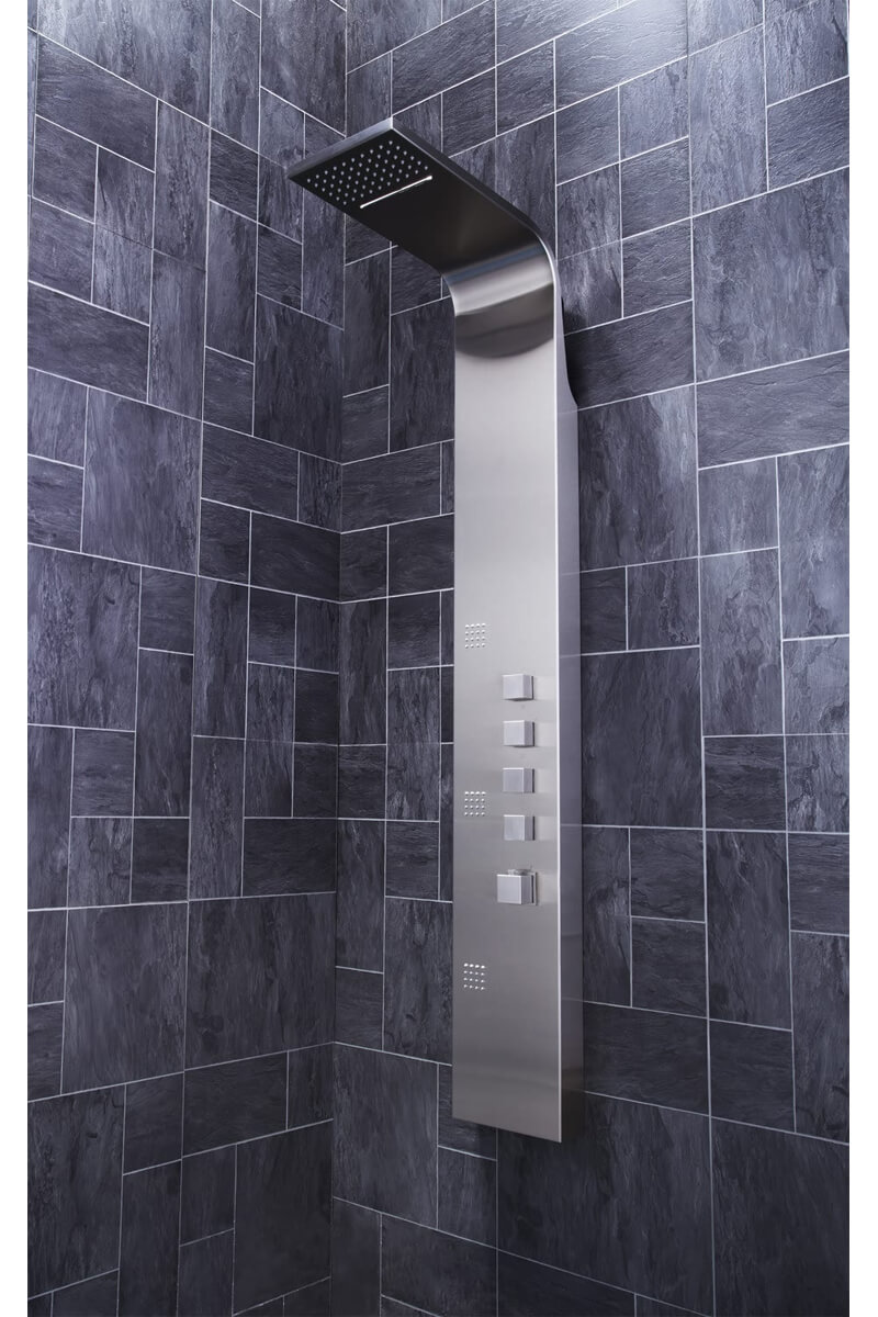 Frontline Losan Thermostatic Shower Panel With Built-In Massage Jets