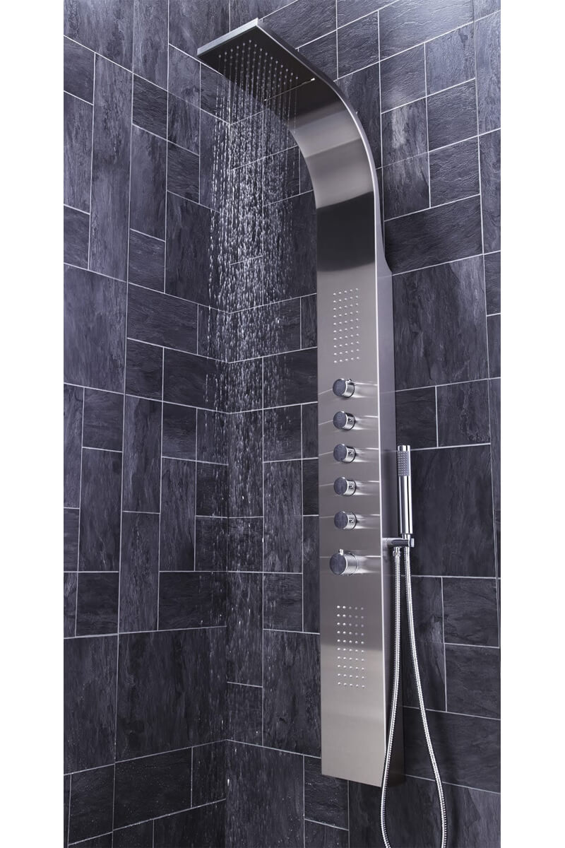 Frontline Dharma Thermostatic Shower Panel With Built-In Massage ...