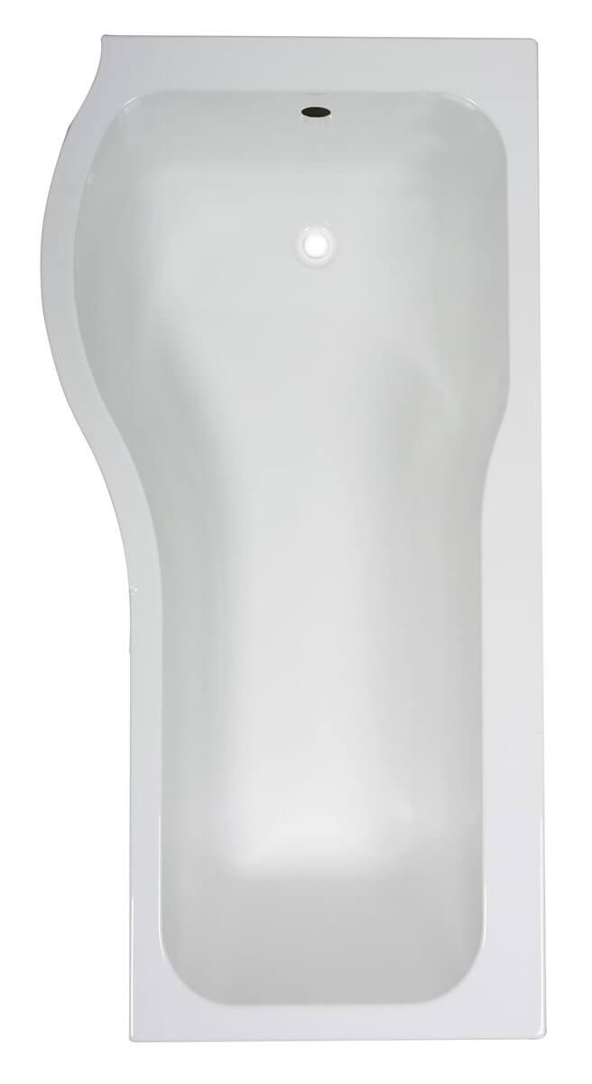 Frontline Luxury P 1500 x 750mm Tungstenite Acrylic Shower Bath ...
