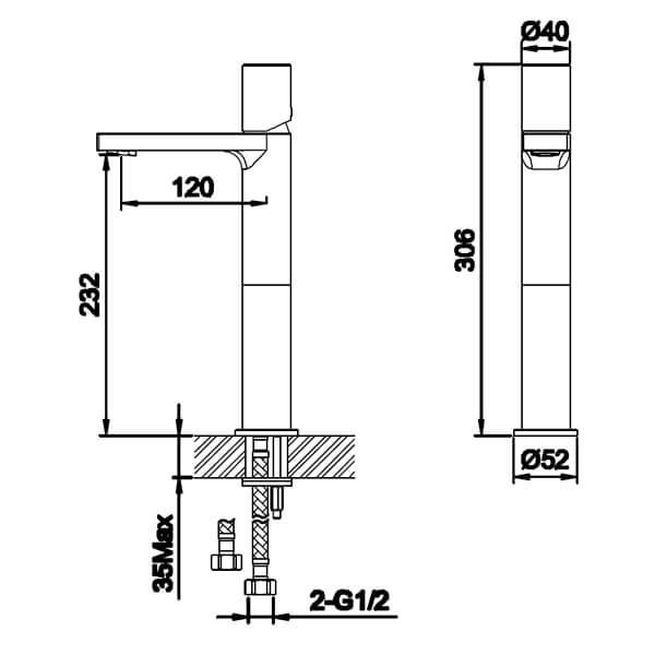 Technical drawing B3-28030 / S910-0300