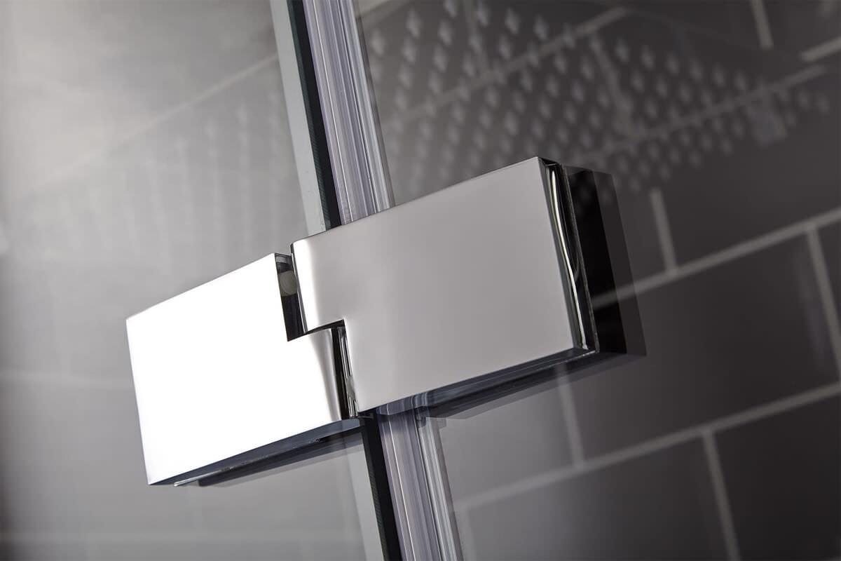 Frontline Aquaglass Elegance 900mm Hinged Shower Door With