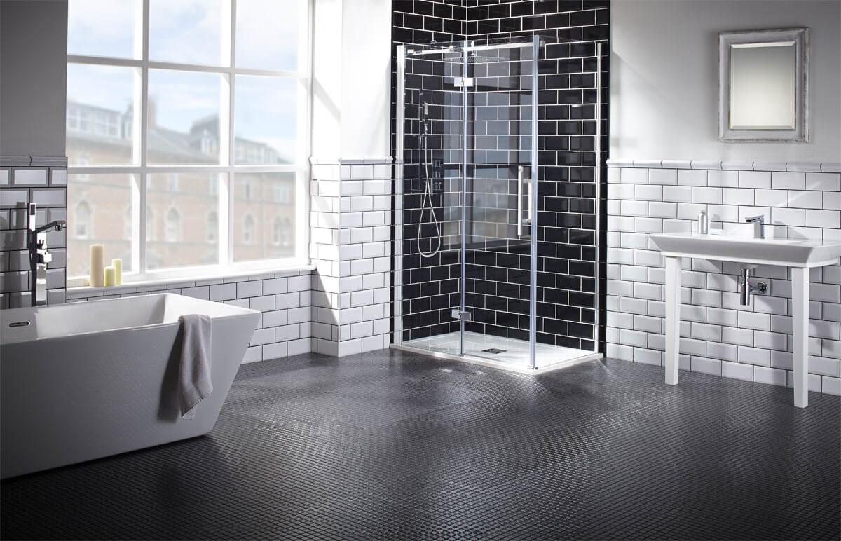 Frontline Aquaglass+ Elegance 900mm Hinged Shower Door With Inline ...
