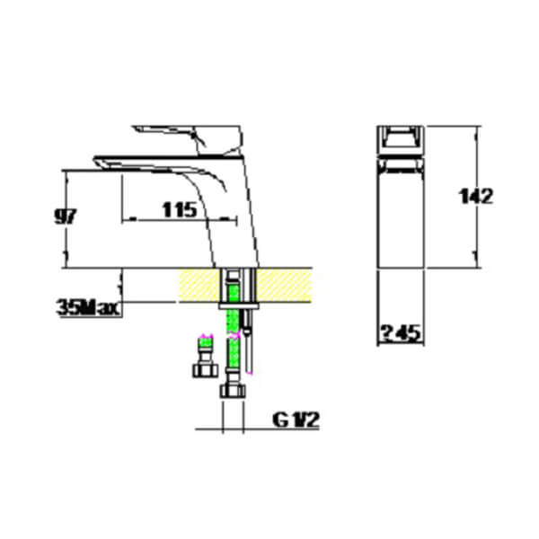 Technical drawing B3-28039 / S861-0100