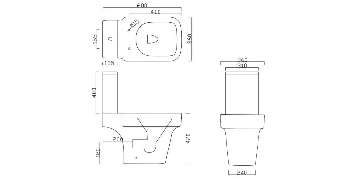 Technical drawing B3-30582 / BIQR6PANSP